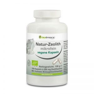 Biotraxx Natur-Zeolith Kapseln 180 St. je 500 mg mikrofeines Zeolithpulver pro Kapsel