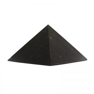 Schungit Pyramide groß: 10×10 cm, Shungit aus Rußland